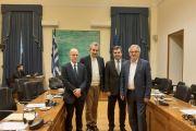 Συνάντηση του Προέδρου της Ομάδας Φιλίας Ελλάδας-Γεωργίας κ. Γ. Ακριώτη με τον Πρέσβη της Γεωργίας στην Αθήνα κ. Ioseb Nanobashvili