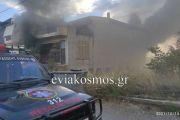 Τέθηκε υπό έλεγχο η φωτιά στο Αλιβέρι –Περιορίστηκε στο υπόγειο διώροφης οικοδομής