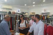 Ο Μίλτος Χατζηγιαννάκης κατά την περιοδεία του στα καταστήματα στη Χαλκίδα: «Πρέπει να αποτρέψουμε τη νομιμοποίηση της 7ήμερης εργασίας και την  υπέρβαση της 8ωρης εργασίας»