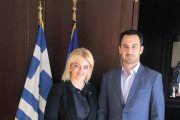 Εξασφάλισε Χρηματοδότηση 400.000 ευρώ και έκτακτες πιστώσεις η Λίνα Ευσταθίου στη συνάντηση με τον Υπουργό Εσωτερικών Αλέξη Χαρίτση