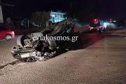 Αλιβέρι: Σώθηκε από τύχη ο οδηγός Ι.Χ που ντεραπάρισε εν κινήσει