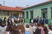Στον αγιασμό του δημοτικού σχολείου της Αγίας Άννας στη Β. Εύβοια η Πρόεδρος της Δημοκρατίας Κατερίνα Σακελλαροπούλου – Τι δήλωσε ο Περιφερειάρχης Φάνης Σπανός