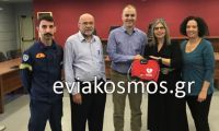 Η γιατρός και εντεταλμένη σύμβουλος για θέματα υγείας Σοφία Αφένδρα παρέλαβε τον απινιδωτή  για το δήμο Διρφύων –Μεσσαπίων