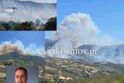 Ο Αντιπεριφερειάρχης Γιώργος Κελαϊδίτης για τη φωτιά στα Στύρα: «Παραμένουμε σε επιφυλακή καθώς κάτω από τις συνθήκες αυτές οι αναζωπυρώσεις μπορεί να προκαλέσουν νέα συμβάντα»